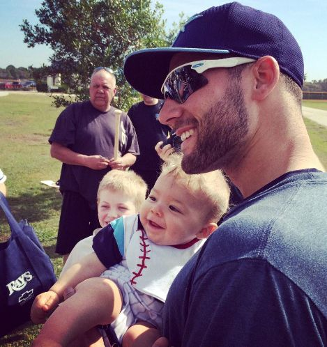 Tampa Bay Rays: This morning at ST Camp - Babies love KK!