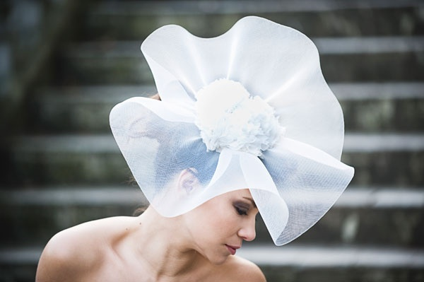 Ava delicate large crin headpiece