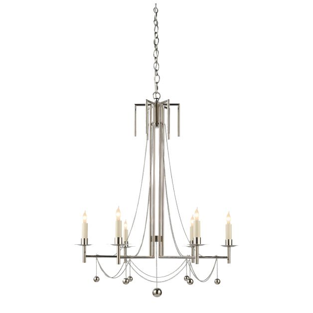 Millo chandelier in bronze with natural paper shades