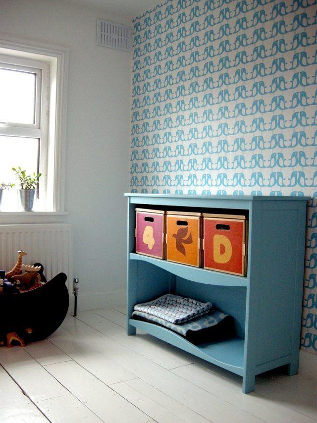 idées de papier peint chambre enfant à pingouins