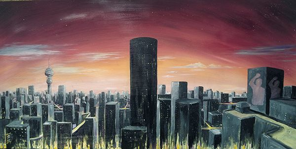 Johannesburg Skyline by Stefan B. Smit, via Behance