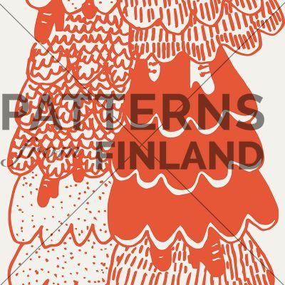 Espanjalaiset helmat by Maria Tolvanen  #patternsfromagency #patternsfromfinland #pattern #patterndesign #surfacedesign #mariatolvanen