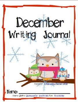 December Writing Journal Cover Freebie