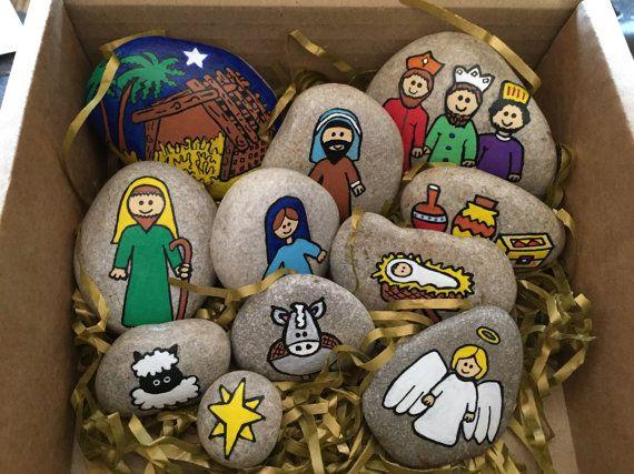 Nativity story stones от WishesInMyPocket на Etsy