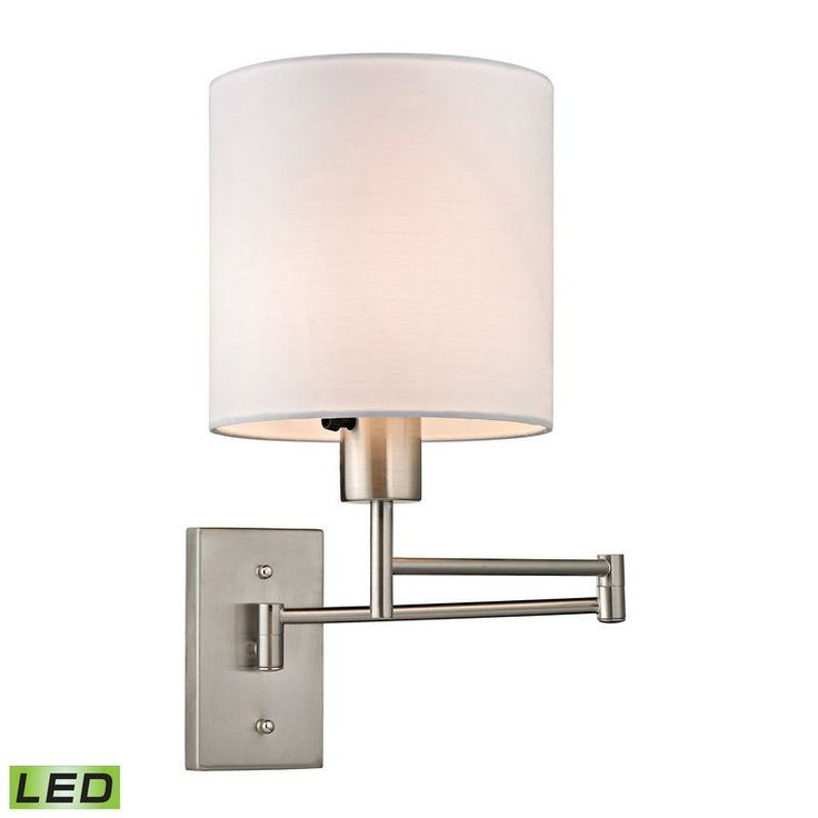 Buy the Elk Lighting Brushed Nickel Direct. Shop for the Elk Lighting Brushed Nickel Carson 1 Light LED Swing Arm Wall Sconce and save.  sc 1 st  Pinterest & 105 best Nickel/Chrome Wall Sconces images on Pinterest | Wall ... azcodes.com
