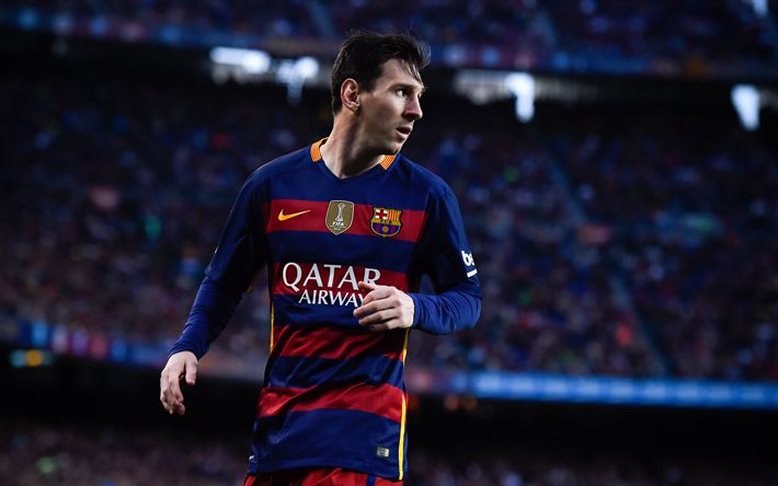 Download wallpapers Lionel Messi, football star, Barcelona, Champions League, Spain, football, Leo Messi