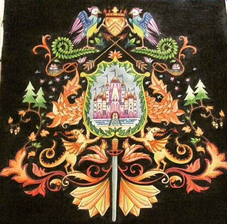 Coat Of Arms Castle Enchanted Forest Brasao Castelo Floresta Encantada Johanna