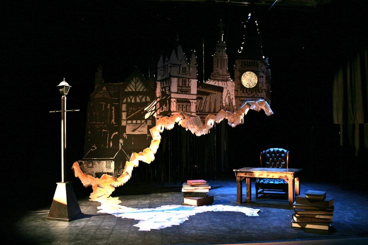 Jacob Marley's Christmas Carol - Loudly Whispered Theatre. Dale Marushy set design.