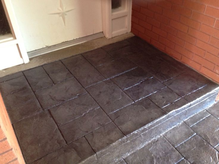 Gray Concrete With Dark Gray Accent Color Stamped With