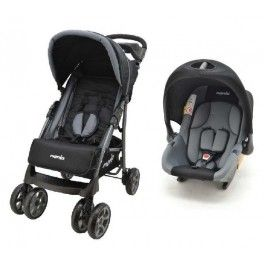 La poussette Champion de Team Tex suit l'enfant de la naissance jusqu'à 3/4 ans environ.Cette poussette Travel System est accompagnée d'un siège-auto groupe 0+ Baby Ride qui vient s'accrocher sur l'assise et le châssis de la poussette pour une utilisation dès les premiers jours. Jusqu'aux 13 kg de l'enfant, ce cosi peut être utilisé pour les voyages en voiture dos à la route. La poussette Champion possède un pliage compact et un dossier inclinable. Elle comprend aussi un panier à ...