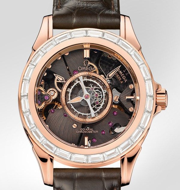 """Omega De Ville Central Tourbillon Baguette Diamond Bezel - see Ariel's piece at Centurion Magazine """"With a design that is now 20 years old, the Omega De Ville Central Tourbillon is a watch that has stood the test of time..."""" then see all the Omega watches we've written about: http://www.ablogtowatch.com/watch-brands/omega/ and more about tourbillon watches here: http://www.ablogtowatch.com/tag/tourbillon-watches/"""