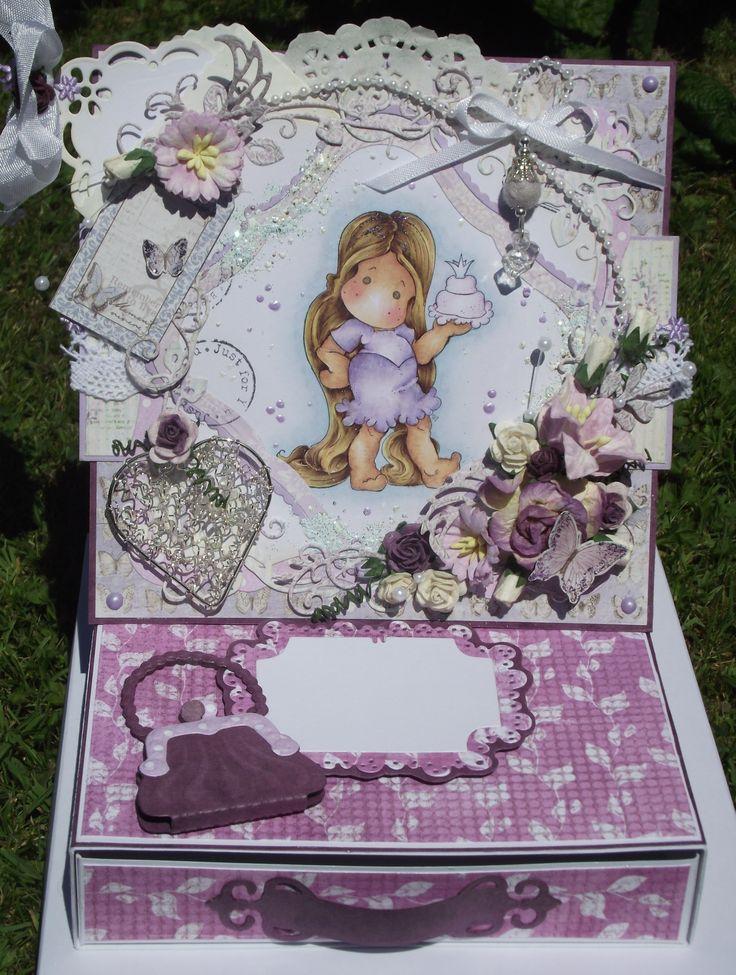 Magnolia Tilda Easel Card with drawer