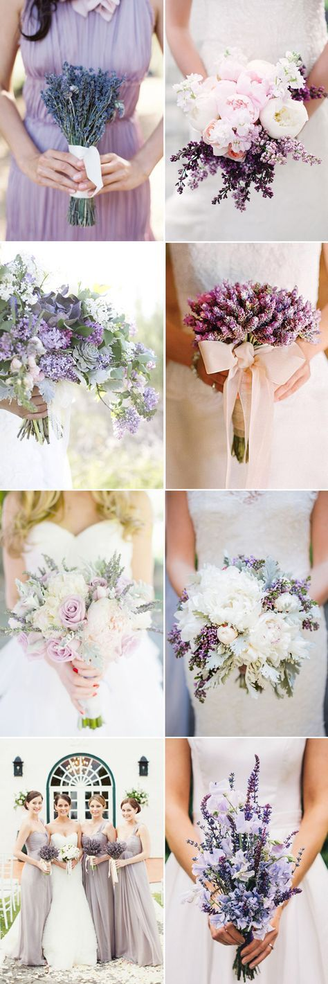 45 Romantic Ways to decorate your wedding with lavender - Bouquets!