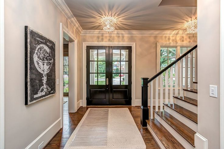 hale navy front door entry transitional with  contemporary chandeliers