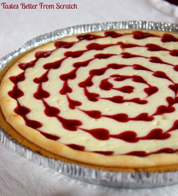 Tastes Better From Scratch: White Chocolate Raspberry Cheesecake