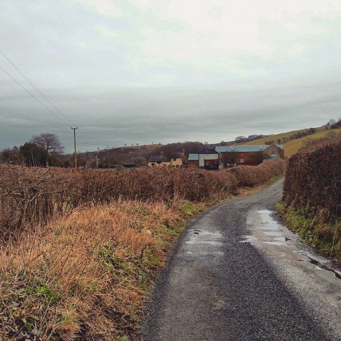 #country #road … #wales #today #farm #hills #newtown #
