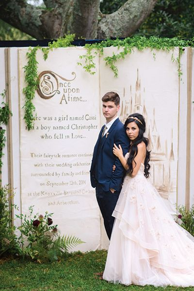 Step into your own storybook with this gorgeous photo backdrop. | Jessie Holloway Photography