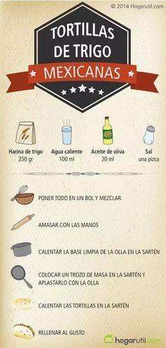 Tortillas de trigo mexicanas