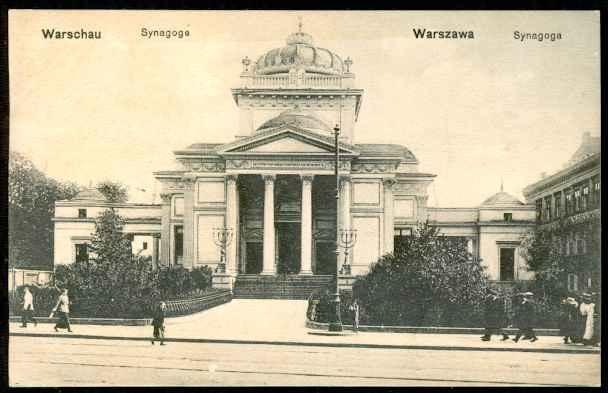 Synagoga Stara Warszawa Pocztówka