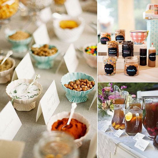 Set the bar creative food and drink station ideas for Food bar ideas for a party