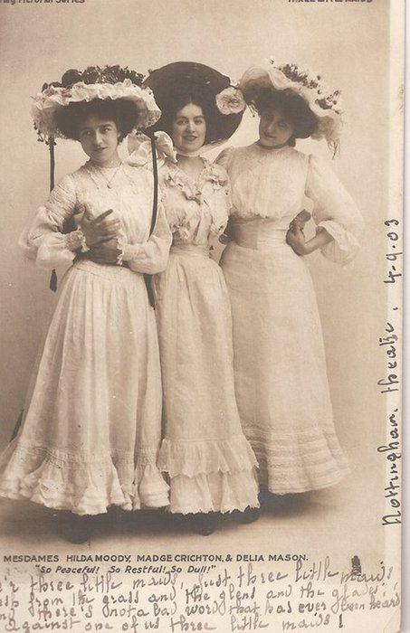 Edwardian dresses, 1903
