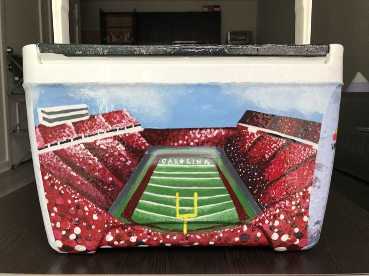 football stadium usc university of south carolina cooler painting idea