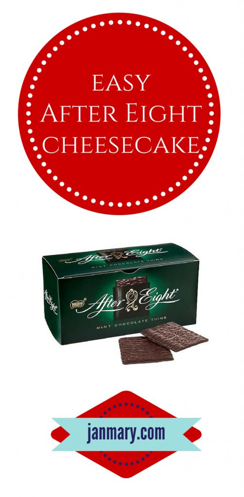 easy after eight cheesecake - perfect mint after eight cheese cake