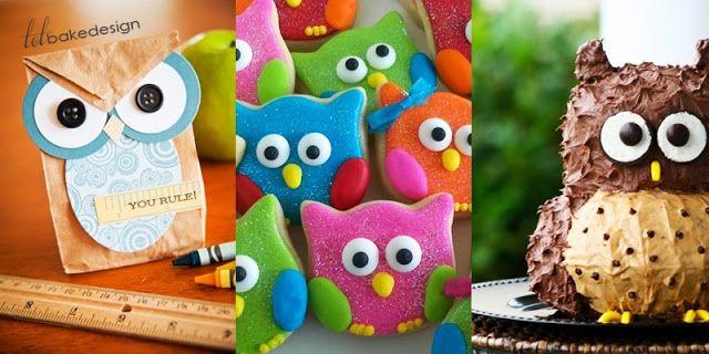 Inspirasi Bake & Design : [ 24 Gambar ] Tema Owl Burung Hantu Yang Sangat Comel Untuk Harijadi Yang Pertama! - TotBakeDesign