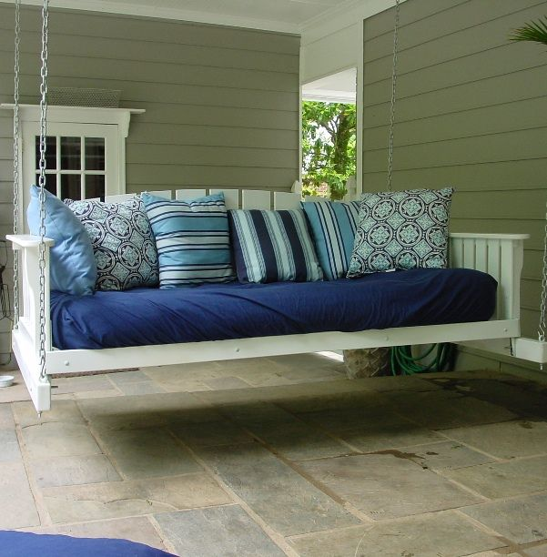 I would love this for our porchIdeas, Porch Swings, Back Porches, House, Daybeds, Wraps Around Porches, Front Porches, Porches Swings, Swings Beds