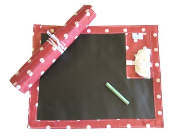 Chalk Cloth Travel Play Mate - Red Spot