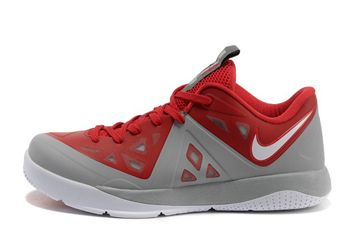 Nike Zoom Lebron James ST II New Mens Basketball Shoes in Cool Grey/Gym Red Colorways