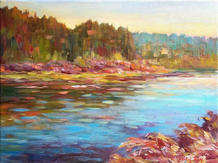 Woman River par Micheal Foers, artiste présentement exposé aux Galeries Beauchamp. www.galeriebeauchamp.com