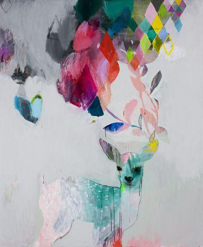 Stunning artwork by Miranda Skoczek. Incredible use of colour- major talent envy!