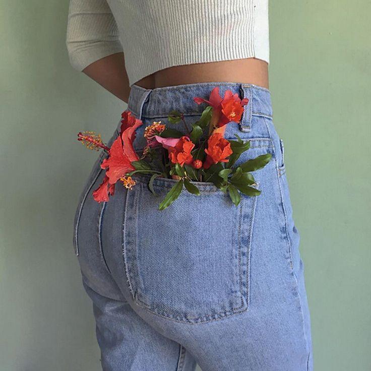 Новый 2016 бойфренд джинсы мода широкий джинсы женщина панк шаровары брюки карго демин джинсыкупить в магазине Baza TopshopнаAliExpress
