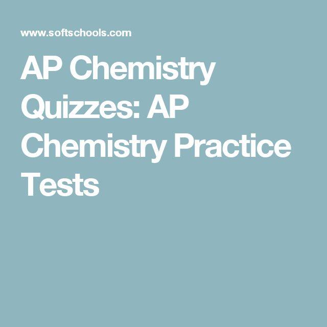 AP Chemistry Quizzes: AP Chemistry Practice Tests