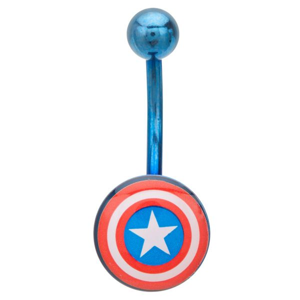 Captin America Shield, so getting this when my pericing heals