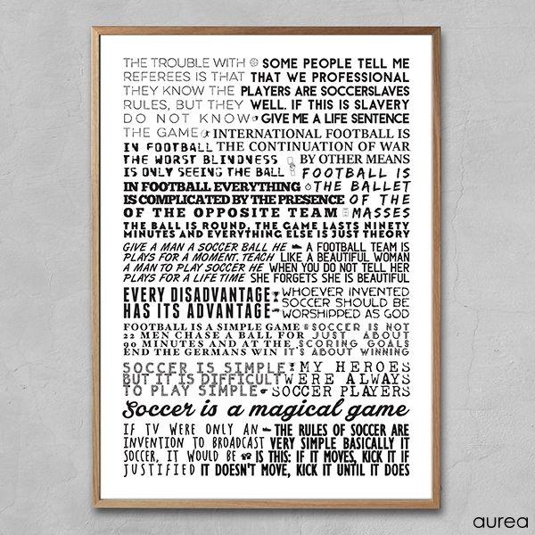Plakat - Fodbold citater