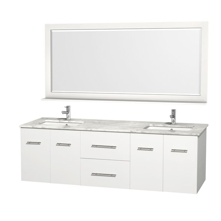 The Art Gallery Wyndham Collection Acclaim White Transitional Oak Bathroom Vanity Common in x