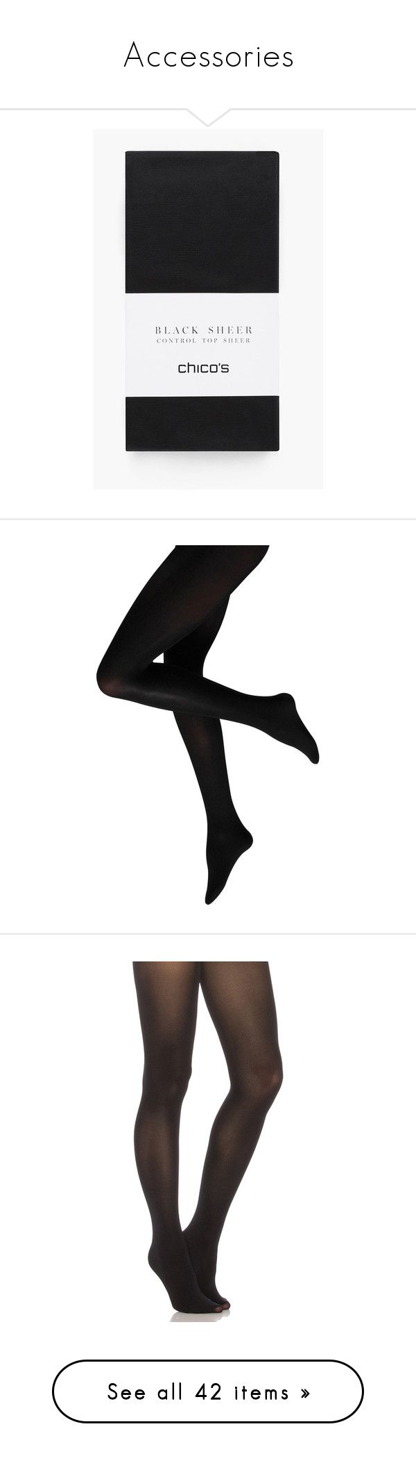 """""""Accessories"""" by lupa-di-bella1 on Polyvore featuring intimates, hosiery, tights, black, pantyhose stockings, panty hose stockings, pantyhose tights, sheer tights, sheer hosiery and pants"""