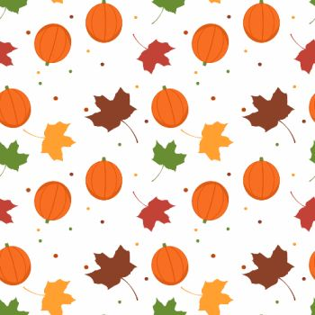 Pumpkin and Leaves Thanksgiving Background