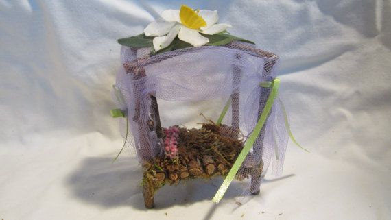 Fairy Garden Canopy Bed by fairydazzle on Etsy