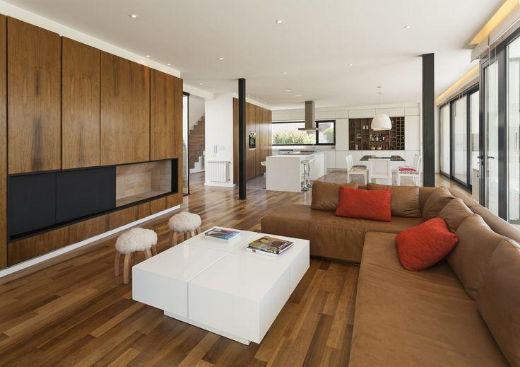 Diseño de sala comedor y cocina modernos