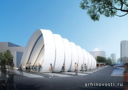 Станция метро 20 (Station 20) от Peter Ruge Architekten. София, Болгария.