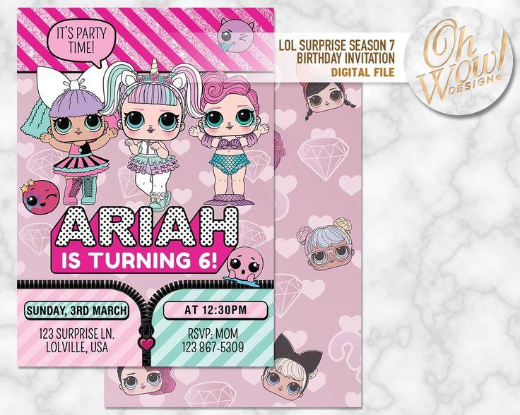 LOL Surprise Series 7 Inspired Birthday Invitation: Digital file – OhWowDesign – Birthdays