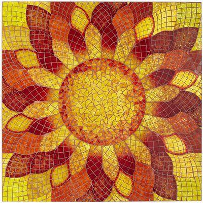 Mosaic Poppy Wall Decor