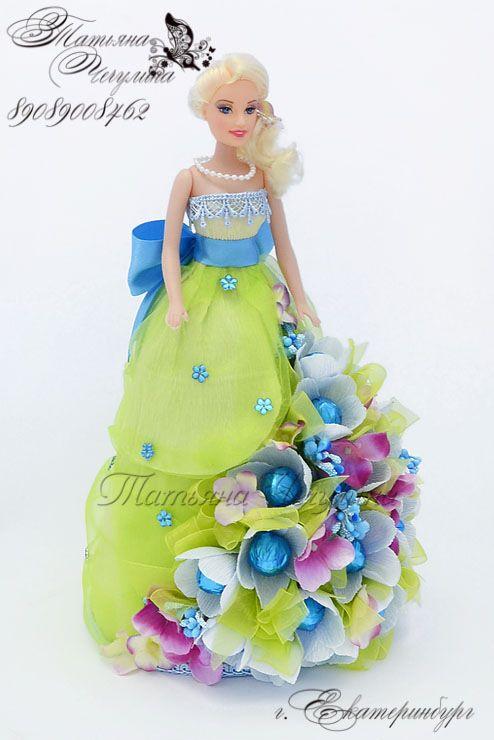 Gallery.ru / Кукла из конфет. Вариант для мастер-класса - Мастер-классы по букетам из конфет в Екатеринбурге - tatyana-che