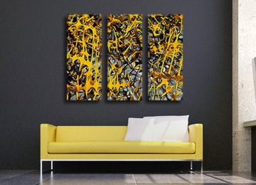 Abstract Canvas Wall Art 23 best yellow canvas wall art images on pinterest | canvas wall