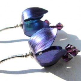 Tytanowe tulipany - kolczyki / Titanium tulips - earrings [LeDonne] -> Zitolo.com