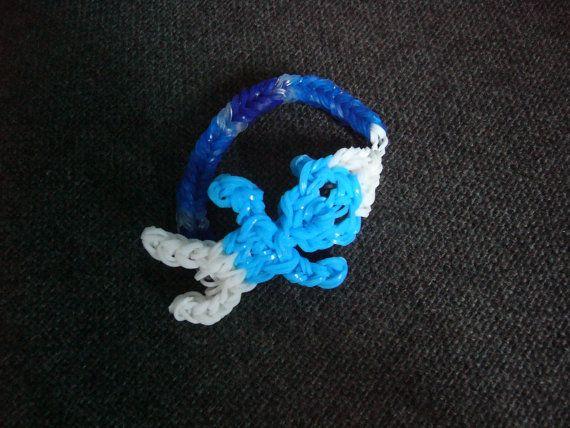 Rainbow Loom Smurfs Fishtail Bracelet by LoomtasticalDesigns