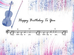 Happy Birthday Printable Music Sheets